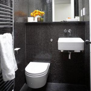 black shower shelf