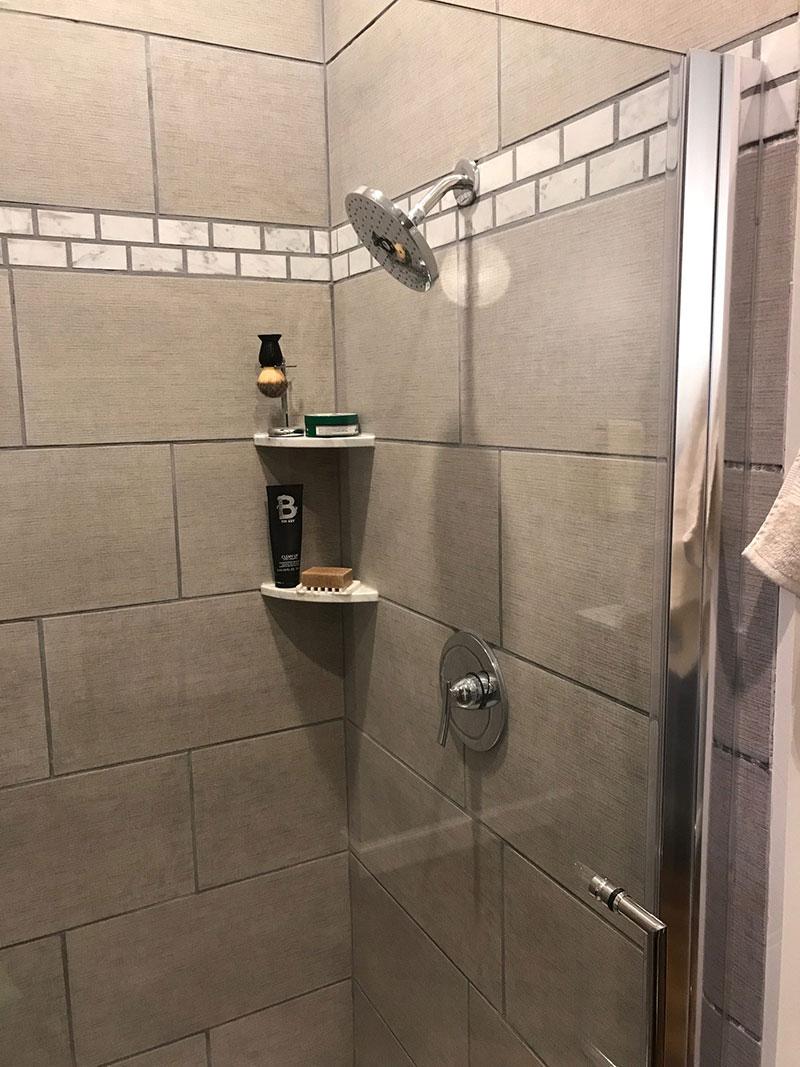 DIY shower storage