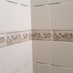 shower shelf installation