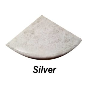 silver corner shelf
