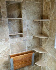 bathroom shower caddy corner