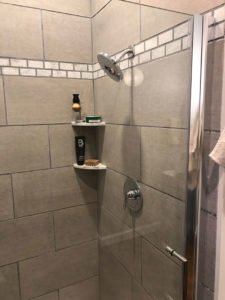 in shower shelf unit