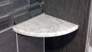 marble shelf for shower niche