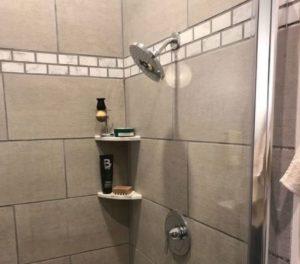 shampoo holder for tiled shower