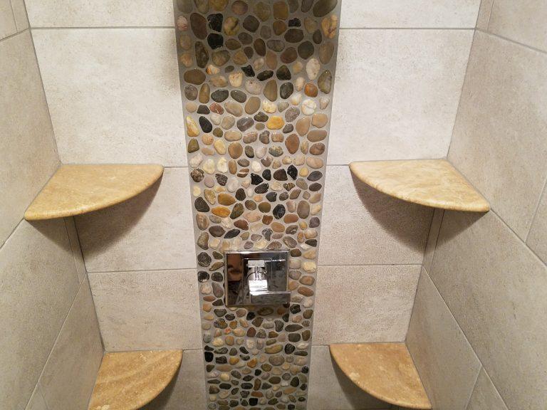 shower shelving options